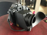 Low angle viewfinder and loupe for Canon 5D Mark II and III