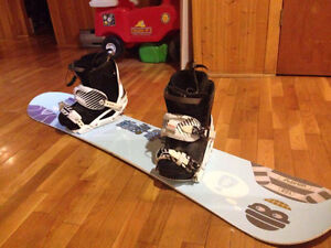 snowboard, fixations, bottes