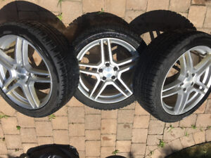 3 MAG WHEELS 18 inches with winter tires  $80 EACH