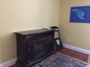 ELECTRIC FIREPLACE MEDIA CONSOLE (wooden)