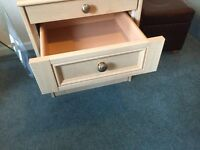2 Drawer Chest with pull out glass shelf