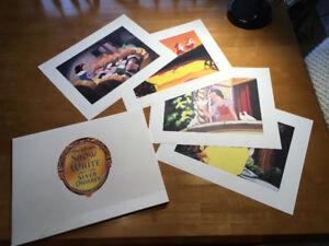 Snow White - set of 4 lithographs  (Disney Store 2001) - MINT