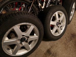 195/60R15 4x Winter Tire w/Mags (5x108)