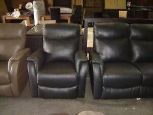 2 STR REC, 2 SINGLES ELECTRIC 100% LEATHER BLACK RRP 3299 SOFA Thebarton West Torrens Area Preview