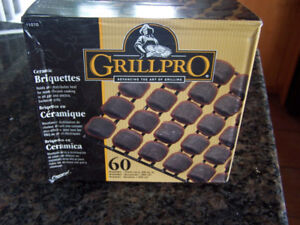 New 60 Grill Pro Ceramic Briquettes for Gas or Electric BBQ