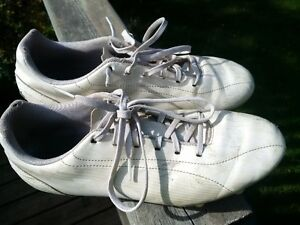 White, Size 7, Puma Evo Speed Soccer Cleats / Shoes
