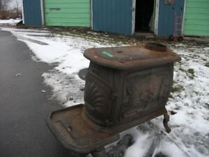 Two Cast Iron Box Stoves