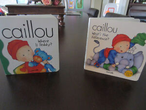 Set of 2 Caillou Hardcover Books