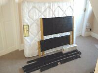 Double Bed, Queen 4ft wide, with Headboard & Mattress