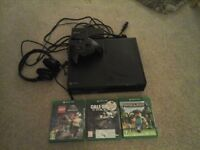 Xbox one hardly used with box