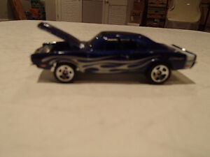 Loose Hot Wheels Blue  '69 Dodge Charger from 10 pack 1/64 Sarnia Sarnia Area image 2