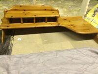 Pine desk top