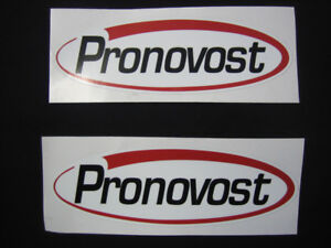 "2 Stickers , collants      "" Pronovost``"