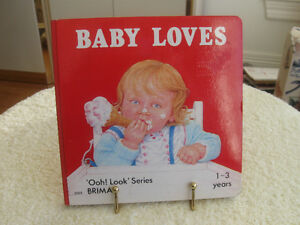 VINTAGE [1983 ]...BABY LOVES FIRST BOOK   OOH LOOK SERIES !