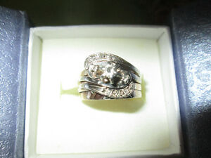 4 Ring Wedding Set, Ladies Size 8