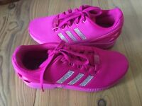 Women's Pink Customised Adidas Flux Size 5