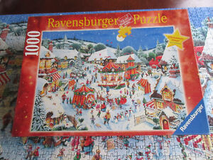 1000 Piece Ravensburger Puzzle - Christmas Fair Limited Ed.