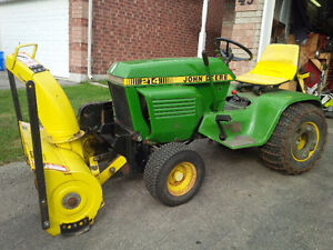 ***John Deere 214 Lawn Tractor and Snowblower***
