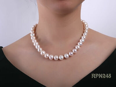 "Marked 14k Solid Gold  9 -10mm Genuine AAA Akoya Pearl 18"" Necklace - Gift Boxed"