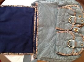 MANTARAY teal coloured cross body bag
