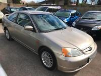 2002 Honda Civic 1.7i auto VTEC - 2 Keys - 3 Keepers