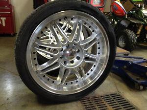 4 pneus Yokohama low profile et mags