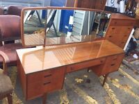 Beautiful Mid Century Teak Dressing Table/ Desk by Nathan