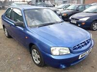 2000/W Hyundai Accent 1.3 84bhp i LONG MOT EXCELLENT RUNNER