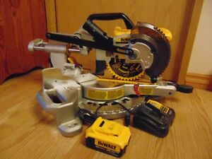 """20V MAX, 4.0 AH, 7 1/4"""" SLIDING MITER SAW w/battery & charger"""