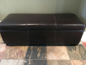 Hide House Leather Storage Bench