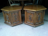Matching Solid Wood End Tables.