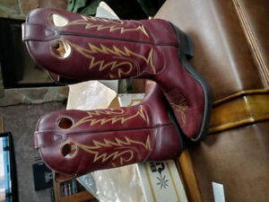 Real Vintage Leather Boulet Western Cowboys Boots