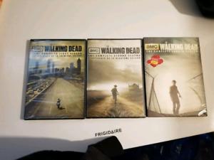 3 walking Dead DVDs