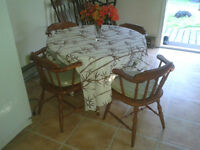 4 chair kitchen table with leaf