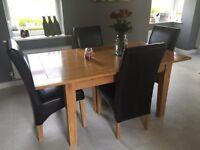 Arlington oak extendable dining table