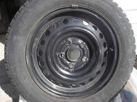 jantes (rims) noires 5 trous pour acura rsx ou autres voitures