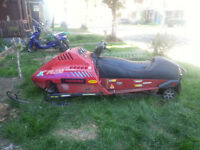 Snowmobile for sale. Parts or a fixer upper.