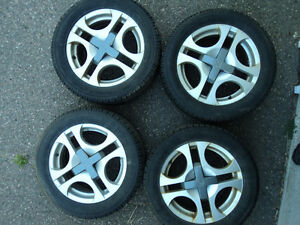 """(4) 16"""" Saturn Ion Factory Alloys on Toyo Observe Winters"""