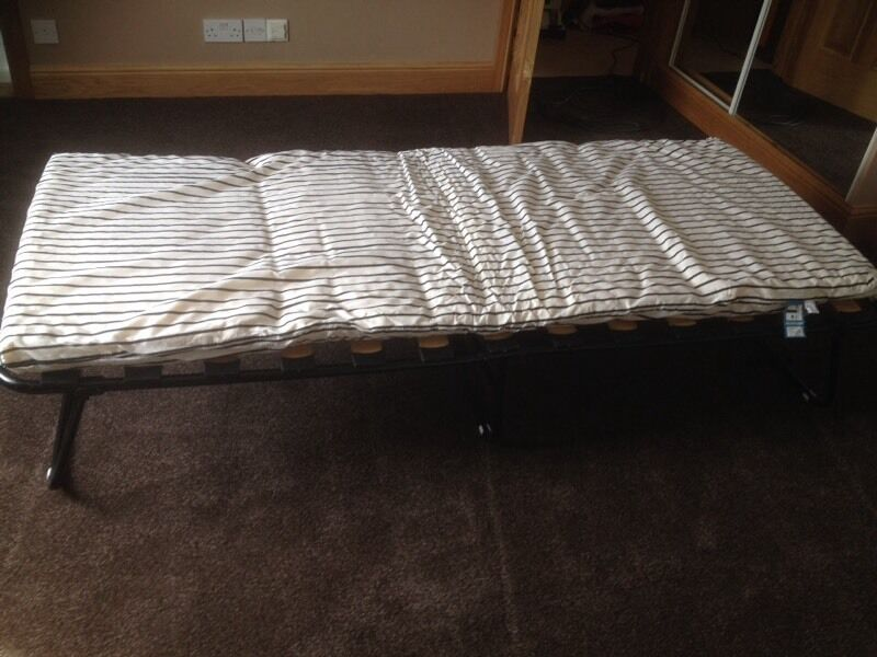 Fold Up Single Camp Bed Argos Zed Bed With Mattress In
