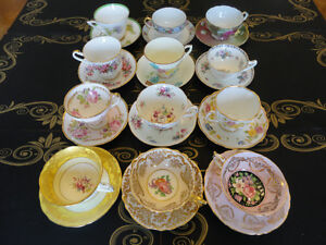 Fourth Lot of VINTAGE Fine Bone China Tea Cup and Saucer Sets