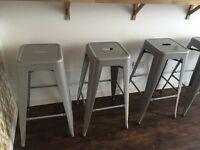 Grey Steel Bar Stools