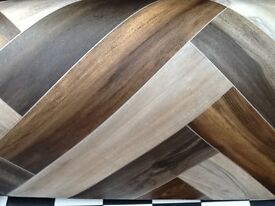 Wood vinyl with pattern oak and walnut wood colours 10ft by 13ft