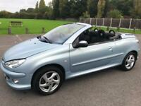 PEUGEOT 206 CC CONVERTIBLE COUPE LONG MOT 1.6 AIR CONDITIONING ELECTRIC ROOF