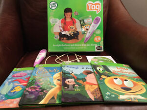 Leap Frog Tag Reading System French 2 Purple TAG Pens w books