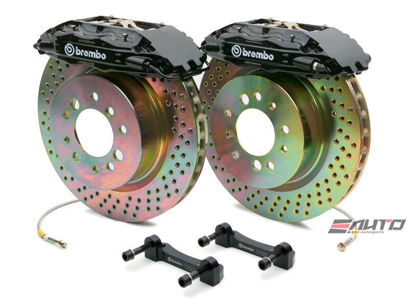 Brembo Rear Gt Brake 4pot Caliper Black 309x28 Drill Disc 911 Sc Carrera 66-89