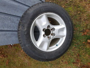 1 Micheline tire and rim to fit Honda truck