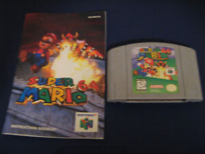 Super Mario 64 with manual