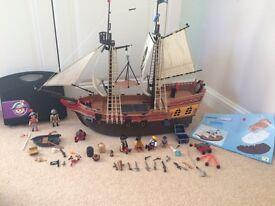 Play mobile large pirate ship plus accessories kit