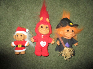 Trolls---Vintage Set of 3--Halloween / Christmas /Valentines Day