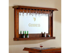 Bar Guinness with mirror and stools